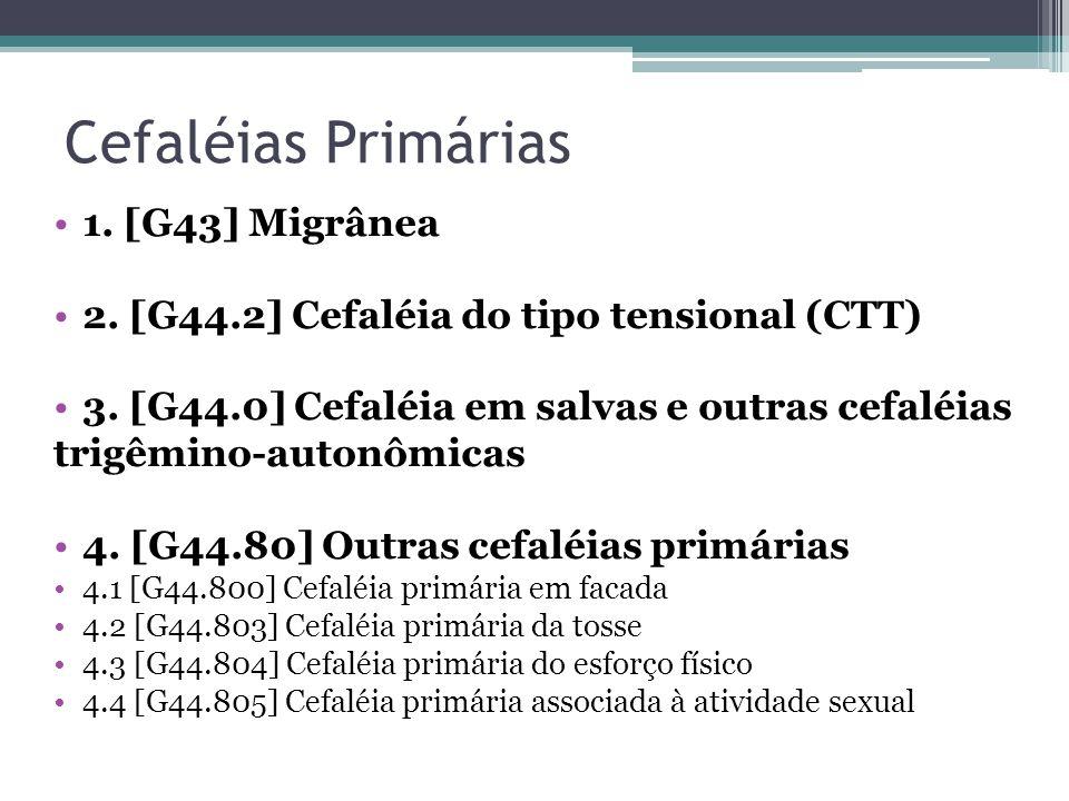 Cefaléias Primárias 1. [G43] Migrânea